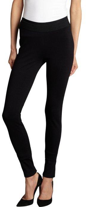 BCBGMAXAZRIA black stretch 'Kimana' zip side leggings