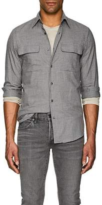 Ralph Lauren Purple Label MEN'S CHECKED COTTON SHIRT - GRAY SIZE 16
