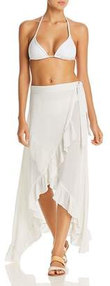 Echo Ruffle Wrap Skirt Swim Cover-Up
