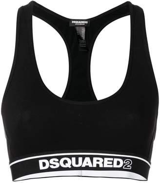 DSQUARED2 Underwear logo band sports bra