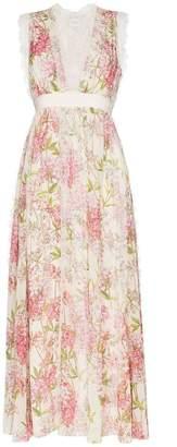 Giambattista Valli floral print silk dress