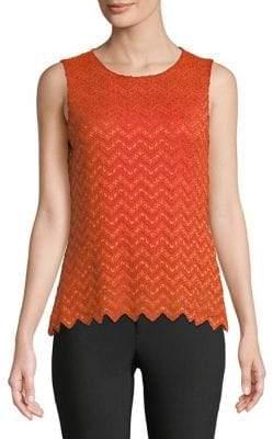 Calvin Klein Plus Sleeveless Lace Top