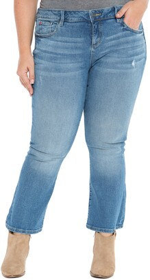 SLINK Jeans Crop Flare Jeans
