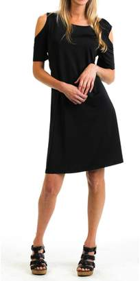 Evergreen Black Cold-Shoulder Dress