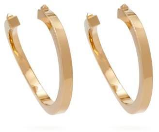 Valentino Rockstud Twisted Hoop Earrings - Womens - Gold