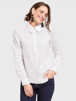 Draper James Solid Long Sleeve Button Down