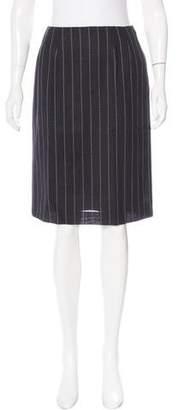 Aquascutum London Wool Knee-Length Skirt