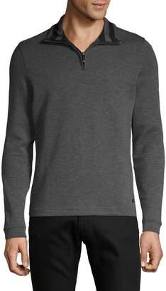 HUGO Long-Sleeve Mockneck Pullover