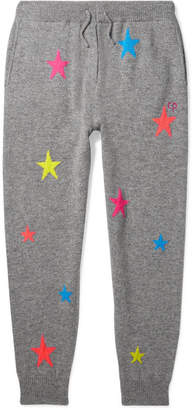 Chinti and Parker Kids - Star Intarsia Cashmere Track Pants - Gray