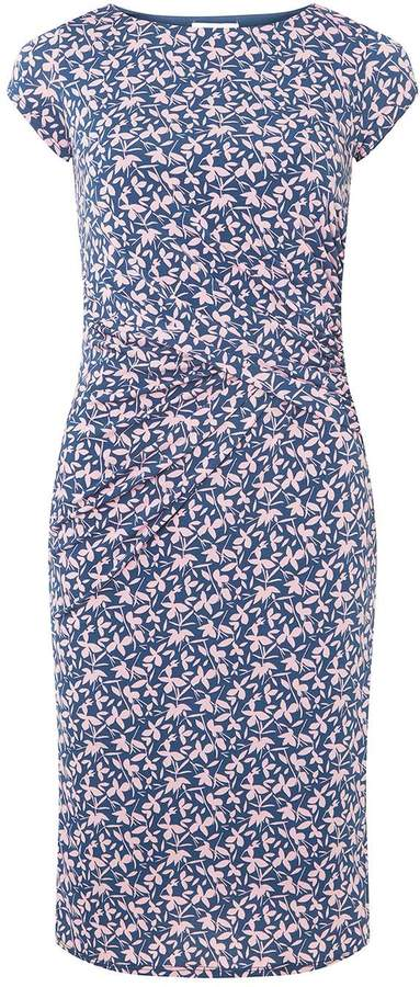 Lily & Franc **Lily Franc Teal Small Floral Shift Dress