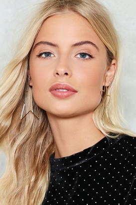 Nasty Gal Star Light Star Bright Hoop Earrings