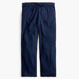J.Crew Drapey crinkle-cotton beach pant