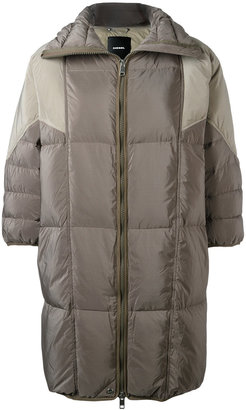 Diesel three-quarters sleeve puffer coat $390.80 thestylecure.com