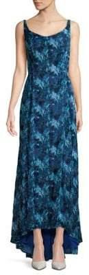 Carolina Herrera Floral Hi-Lo Gown