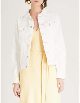 AG Jeans Mya frayed stretch-denim jacket