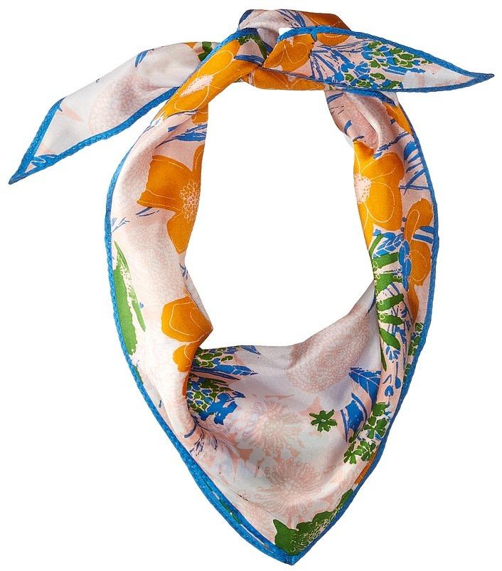 Echo Design - Rue Floral Silk Diamond Scarf Scarves