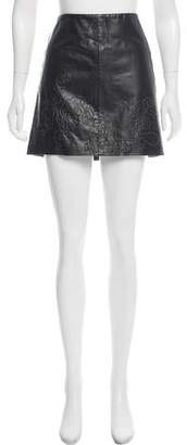 Philosophy di Alberta Ferretti Leather Mini Skirt
