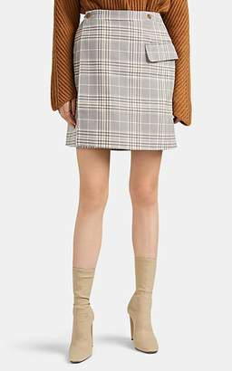 Acne Studios Women's Ivonne Plaid Cotton-Blend Miniskirt