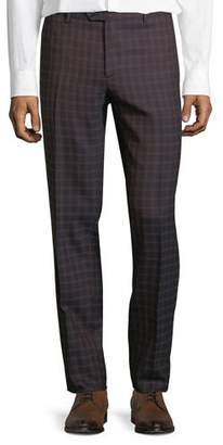 Etro Men's Pindot Check Wool Dress Pants