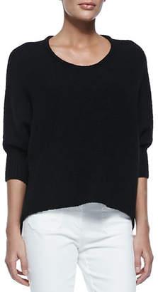 Michael Kors Dolman-Sleeve Crewneck Sweater, Black