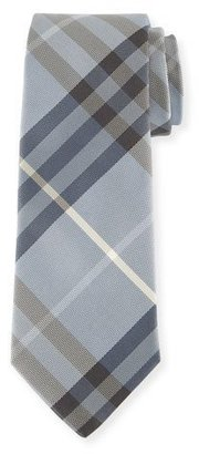 Burberry Check Silk Tie, Dusty Opal Blue $190 thestylecure.com
