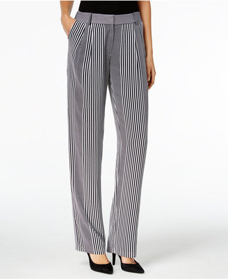 MICHAEL Michael Kors Striped Wide-Leg Pants $125 thestylecure.com