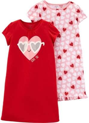 Carter's Girls 4-14 2-pack Heart Dorm Nightgowns