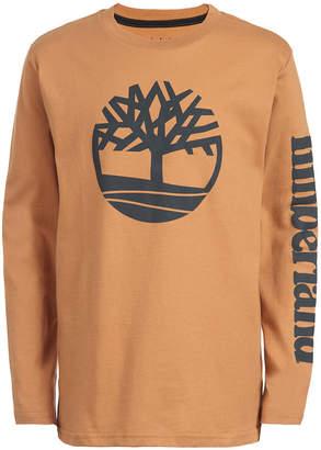 Timberland Little Boys Epsom Wheat Logo T-Shirt