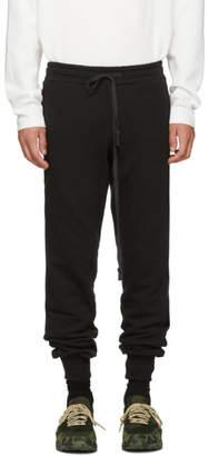 D by D Black Velvet Stripe Lounge Pants