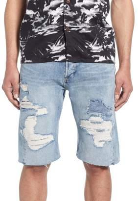 Levi's Distressed Cut-Off Denim Shorts