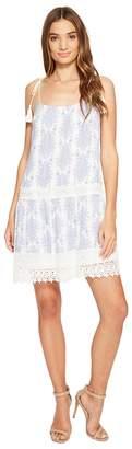 Brigitte Bailey Hunter Spaghetti Strap Dress with Crochet Inset and Tassels Women's Dress