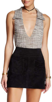 Free People Dots and Dashes Sweater Tank $78 thestylecure.com