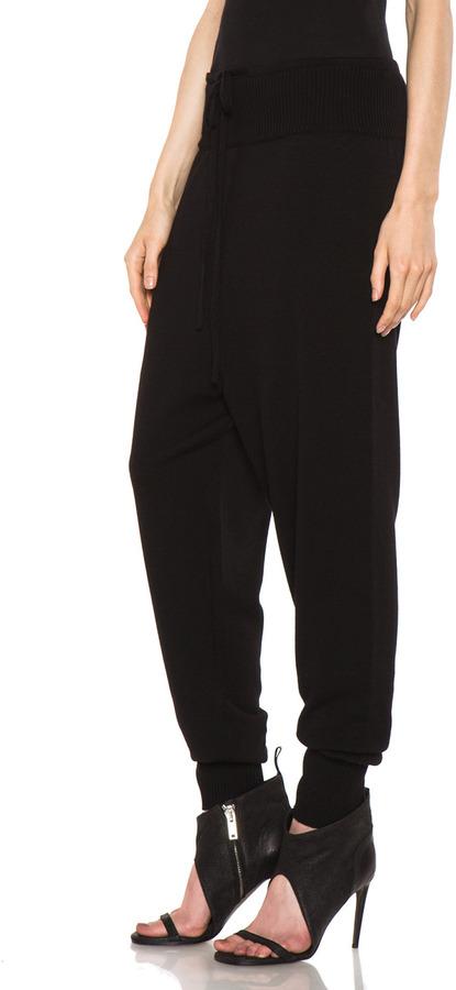 Rick Owens Merino Wool Sweatpant in Black