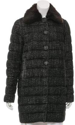 Moncler Wool-Blend Down Coat