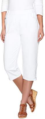 Factory Quacker DreamJeannes Capri Pants with Zipper and Rhinestones