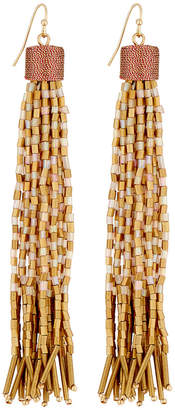 Lydell NYC Ombré Tassel Bead Drop Earrings