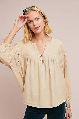 Raga Sandy Embroidered Peasant Top