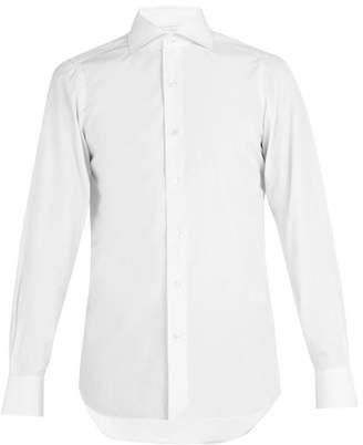 Finamore 1925 - Napoli Spread Collar Cotton Poplin Shirt - Mens - White