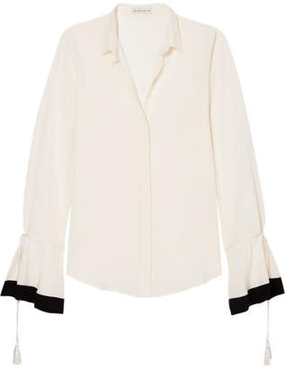 Etro Tassel-trimmed Silk-georgette Blouse - White