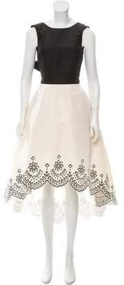 Oscar de la Renta High-Low Cutout Dress