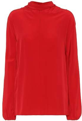 Prada Long-sleeved crêpe de chine top