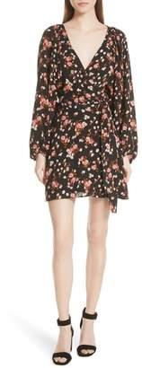 A.L.C. Carlo Floral Print Silk Dress