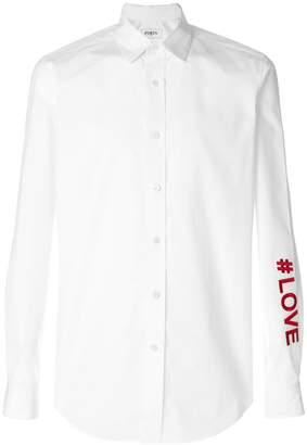 Ports 1961 hashtag embellished shirt