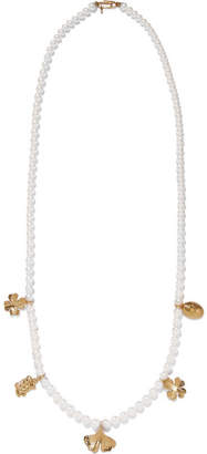 Aurelie Bidermann Cheyne Walk Faux Pearl Gold-plated Necklace