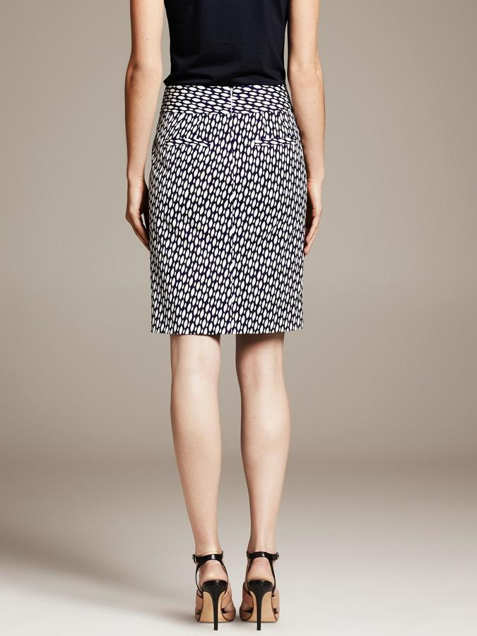 Banana Republic Sloan-Fit Bold Geo-Print Pencil Skirt