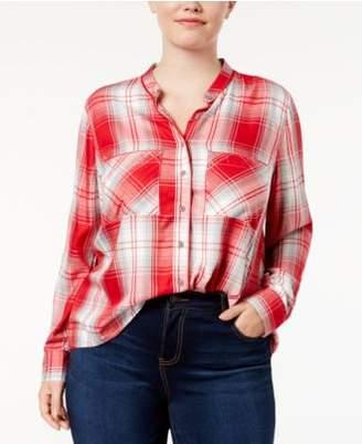 Melissa McCarthy Trendy Plus Size Plaid Shirt