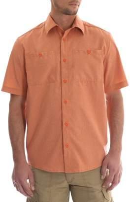 Wrangler Men's Short Sleeve Utility Shirt