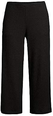Eileen Fisher Women's Rib-Knit Cropped Straight-Leg Pants