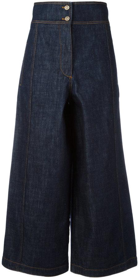KenzoKenzo cropped wide-leg jeans