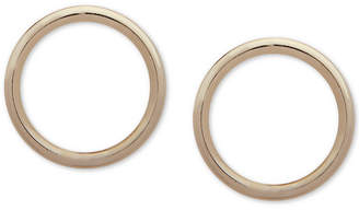 DKNY Gold-Tone Circle Stud Earrings
